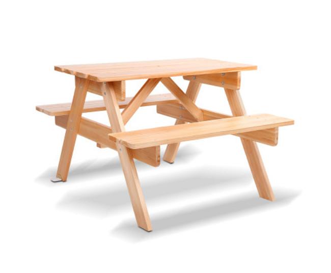 Bayview Kids Wooden Picnic Bench Set