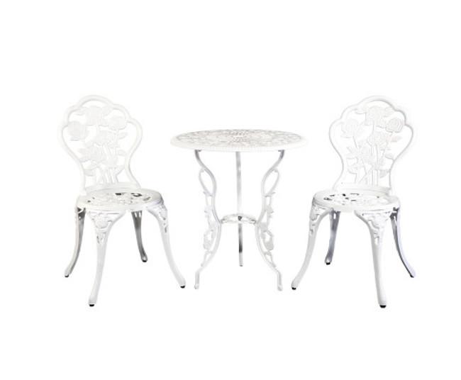 Bondi Aluminium White Chairs Table