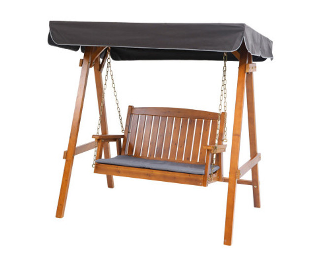 Botany Swing Wooden Bench Canopy