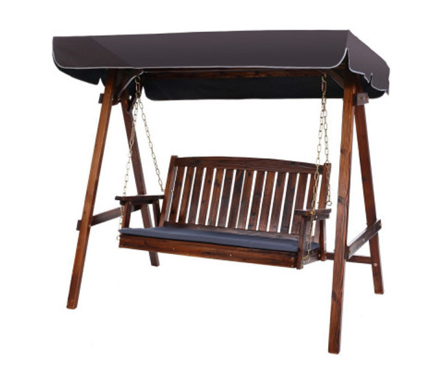 Chiswick Wooden Swing Bench Canopy