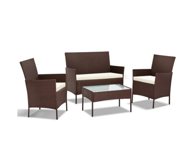 Coogee 4-piece Wicker Outdoor Set
