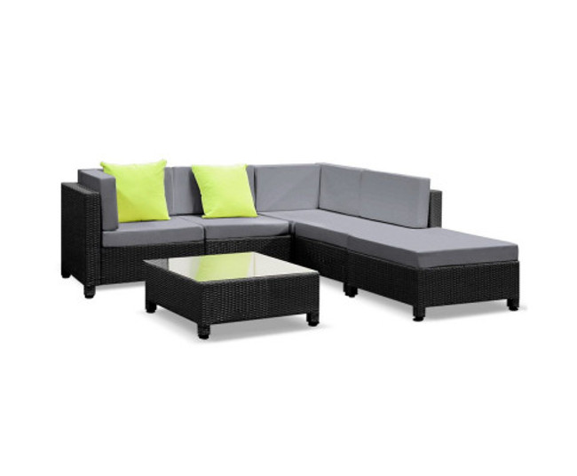 Kellyville Sofa Lounge Wicker Table Chairs
