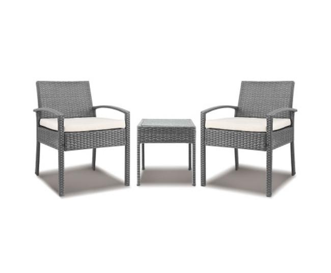 Kirrawee Grey 3-piece Outdoor Set