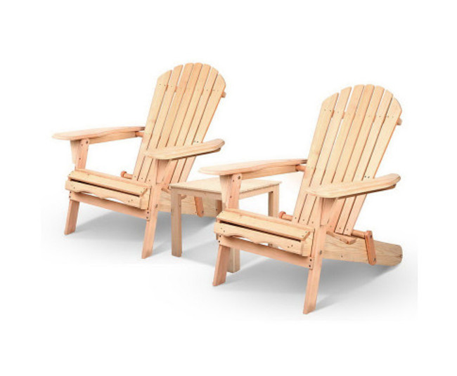 Leumeah 3PC Outdoor Chair and Table Set