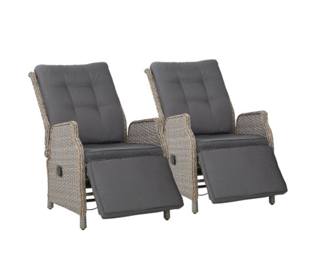 Longueville 2 Recliner Chairs Sun Lounge