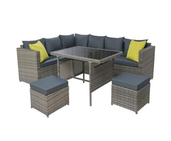 Marsfield Patio Dining Sofa Table Chair