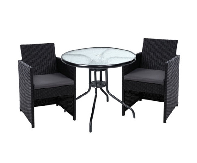 Melonba Dining Chairs Table Patio Setting