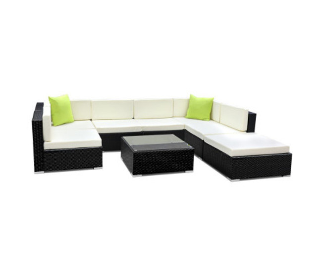 Milperra 8PC Sofa Set with Storage Cover