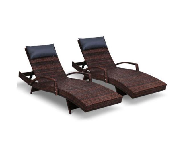 Newington Set of 2 Sun Lounge Day Bed