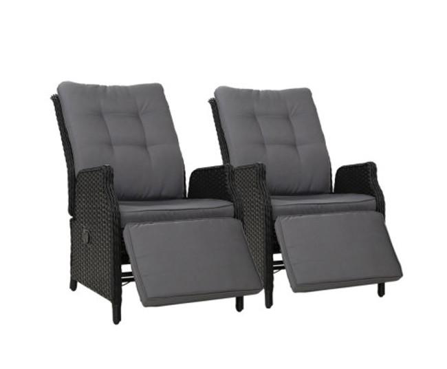 Newport Set 2 Recliner Chairs lounge Set