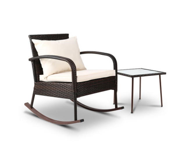 Northmead Patio Rocking Chairs Table Set