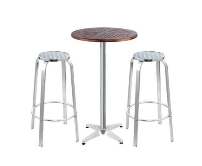 Enfield Wood Bistro Set Bar Table Stools