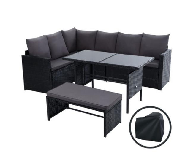 Gables Dining Set Sofa  8 Seater Storage