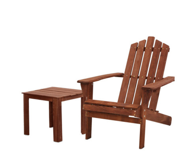 Glebe Wooden Sun Lounge Chairs Table