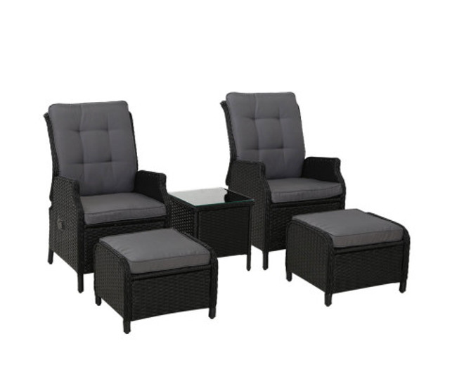 Gordon 2 Recliner Chairs lounge Patio Set