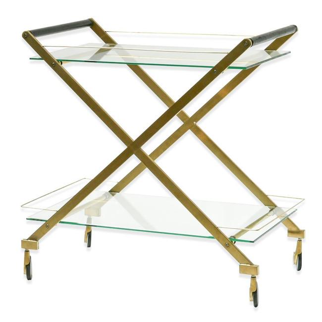 Oakhurst Brushed Gold Bar Cart