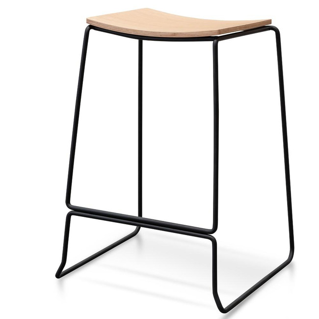 Pagewood Bar Stool With Timber Seat