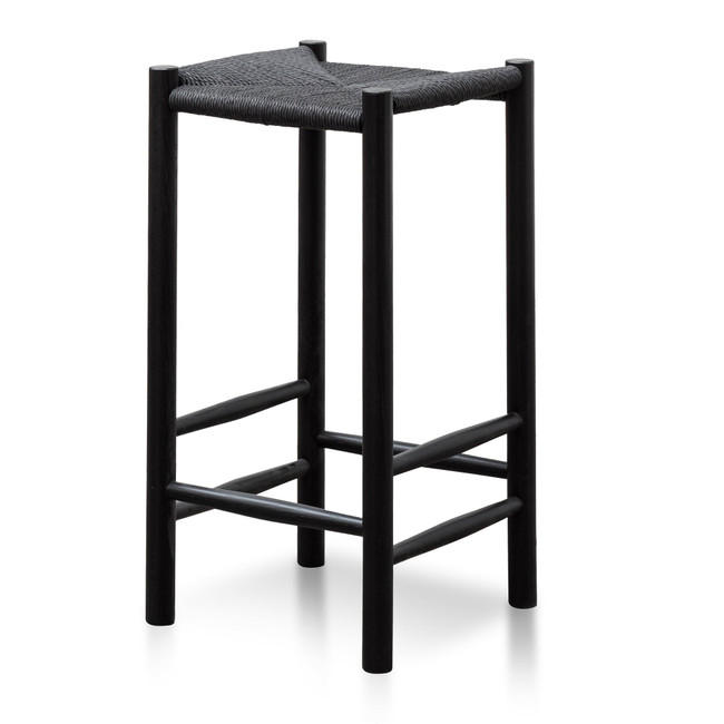 Pemulwuy 65cm Oak Bar Stool - Black