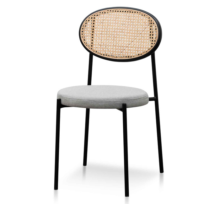 Richmond Grey Fabric Rattan Dining Chair