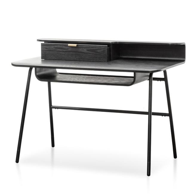 Amor Black Wooden Home Office Desk