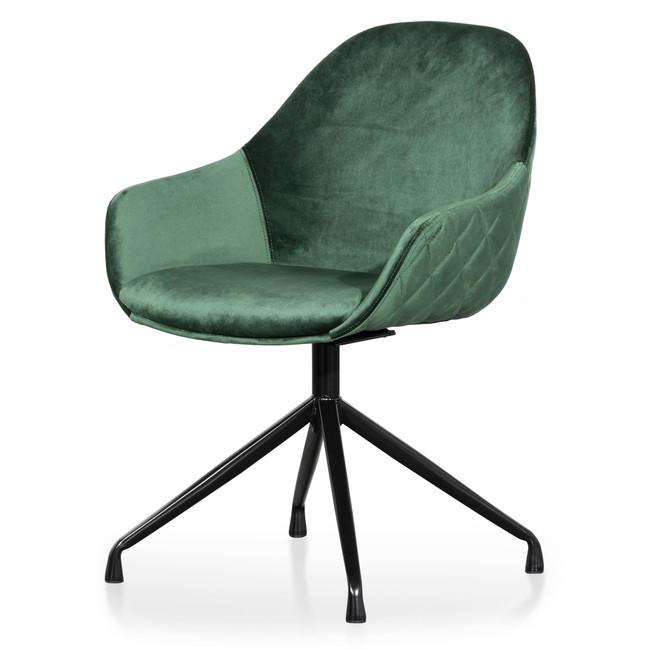 Caniambo Dark Green Velvet Visitor Chair