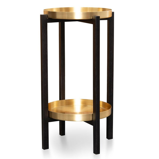 VillawoodBlack Frame Tray Side Table