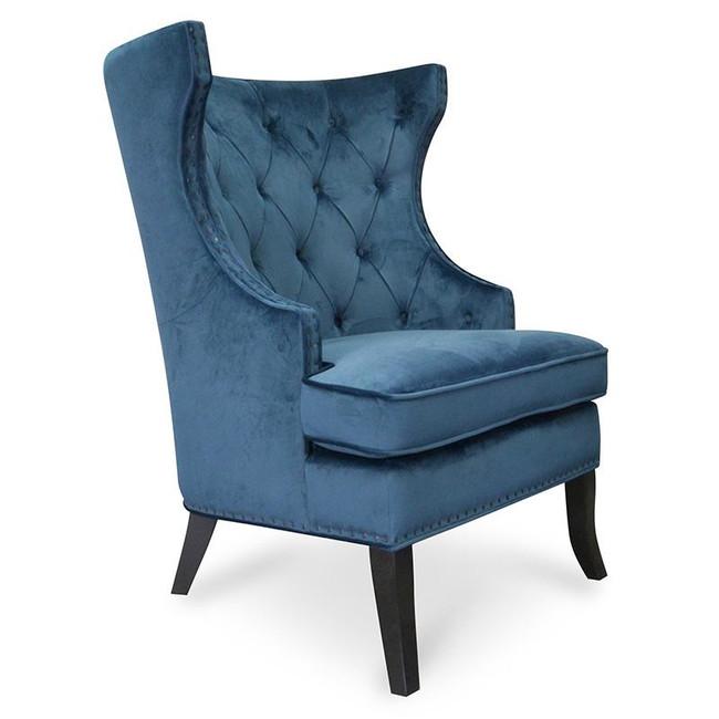 WaverleyNavy Blue Velvet Armchair