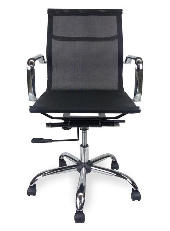 Designer Low Back Mesh Meeting Room / Boardroom Chair - Black