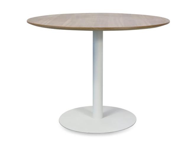 Dex Modern Round Meeting Table in Walnut