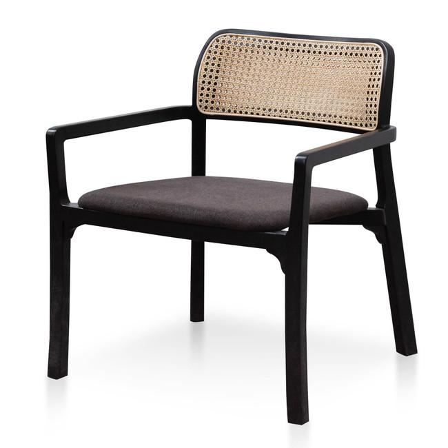 Aspley Fabric Armchair - Anchor Grey with Black Legs