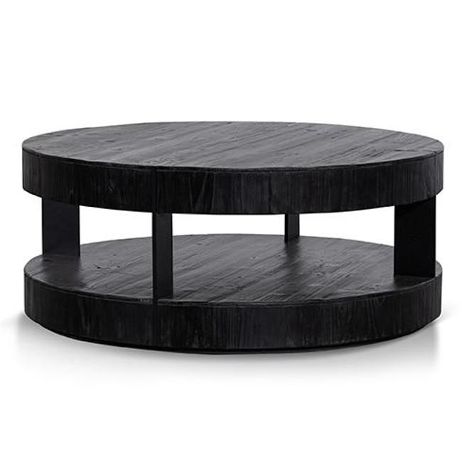 Ballogie 100cm Round Coffee Table - Full Black