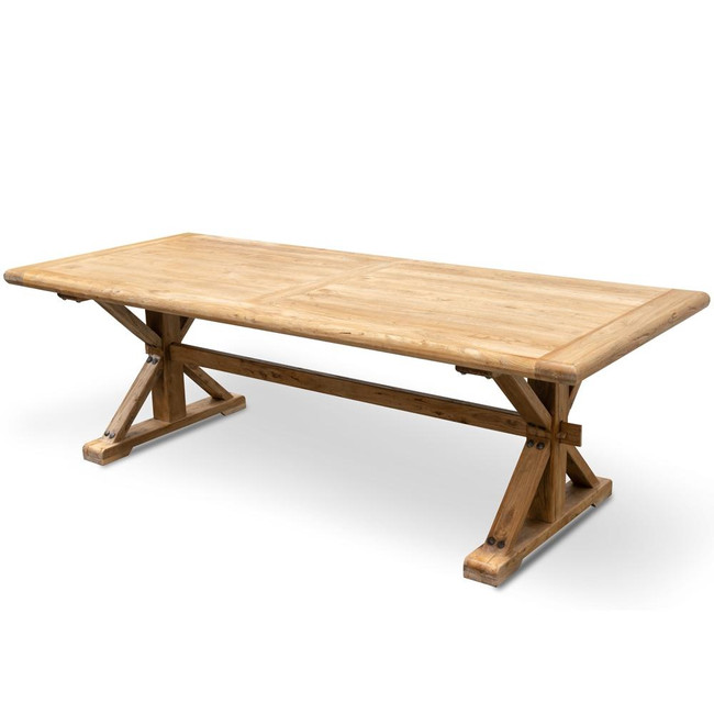 Kedron Wood Dining Table 3m - Rustic Natural