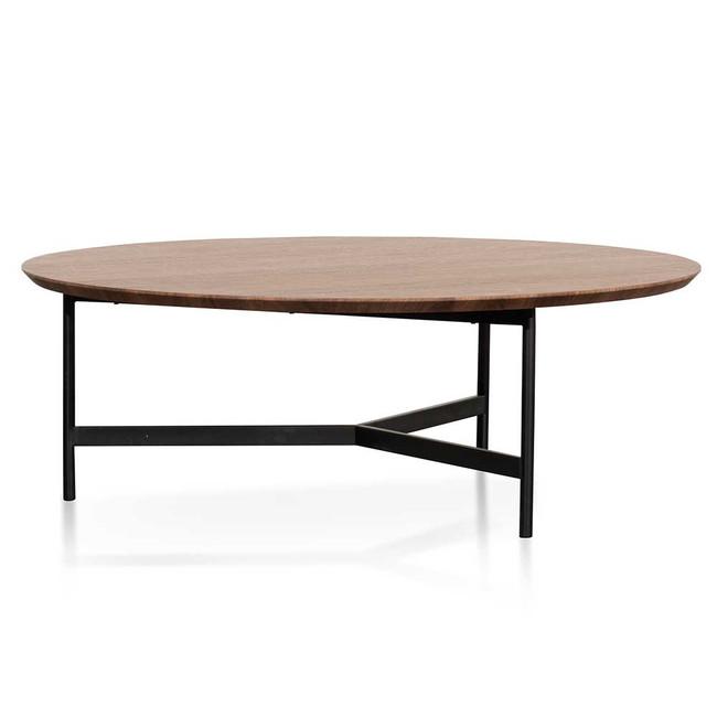 Kulgun 100cm Wooden Round Coffee Table - Walnut