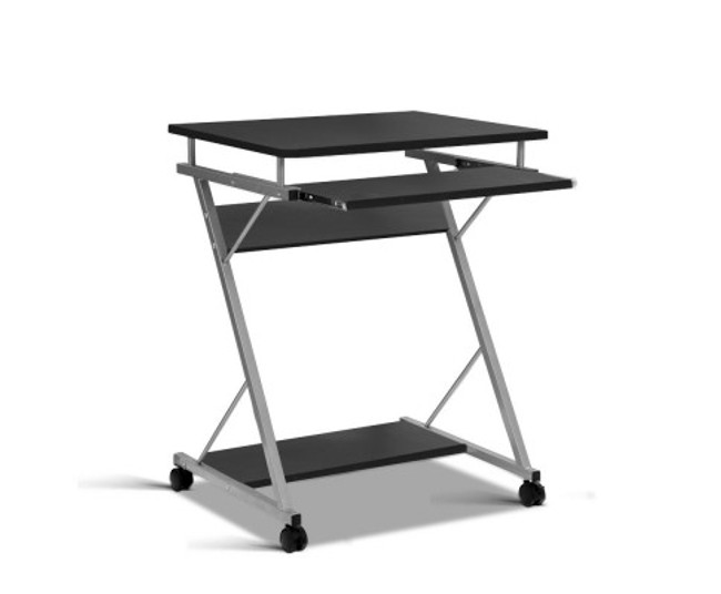 Artiss Metal Pull Out Black Table Desk