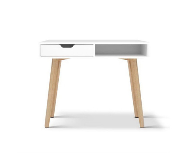Henry Home Office Desk with Drawers - White Top