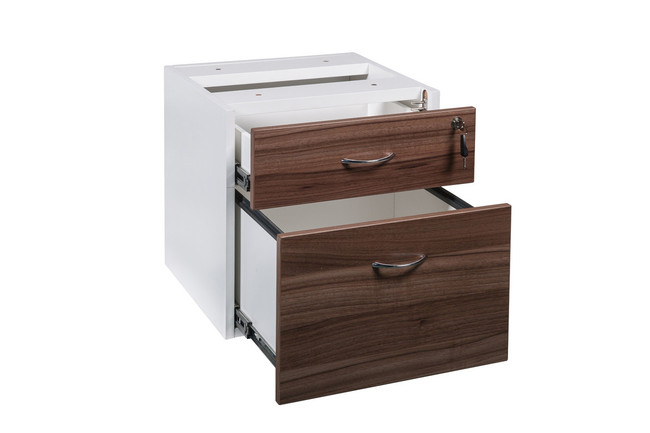 Primo Fixed Desk Pedestal 1 Drawer with 1 File