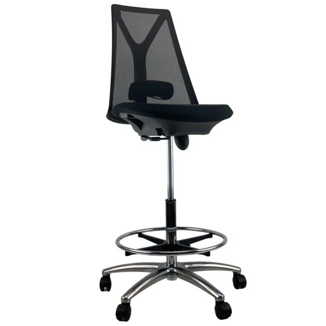 Jianlin Black Mesh Drafting Chair
