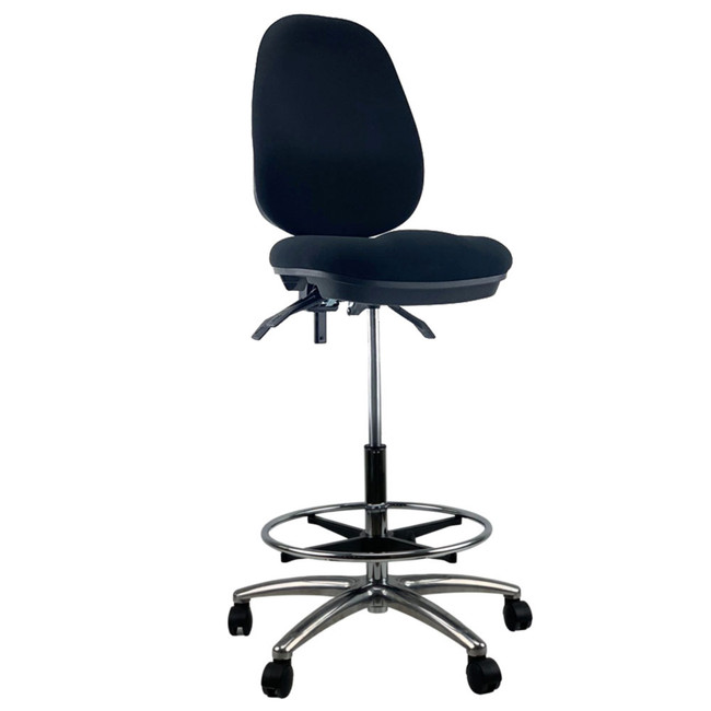 Griffin High Back Chrome Base Drafting Chair