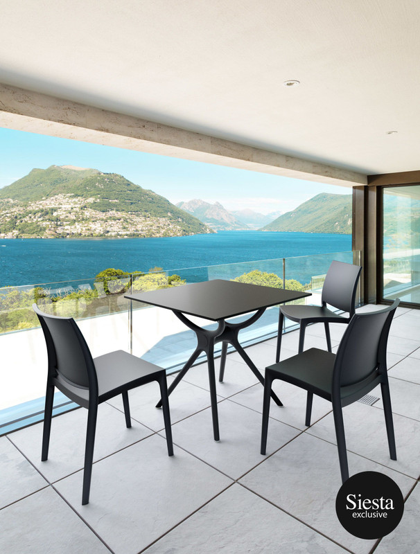 Air Outdoor Balcony Table Setting with 3 Chairs