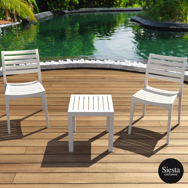 3 Piece Balcony Setting with Ares Chair and Ocean Side Table