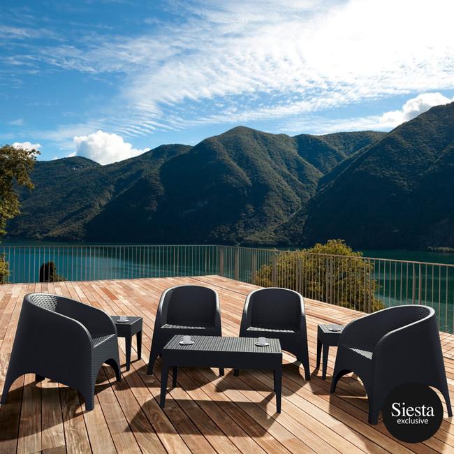 Resin Rattan 4 Seat Outdoor Setting with Aruba Armchair
