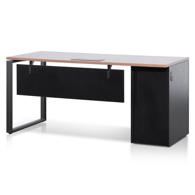 Giru 1.6m Single Walnut Office Desk