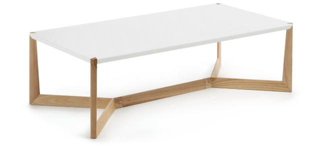 Duplex Coffee Table - Wooden Legs