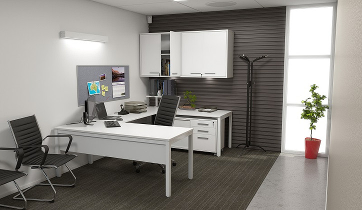 Get Organized With A Corner Office Desk