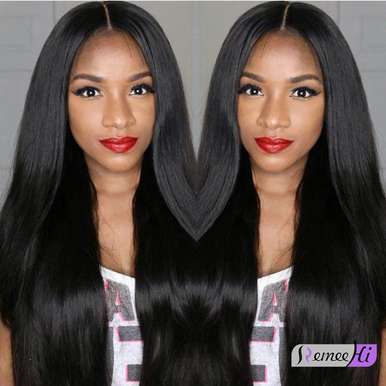 Remeehi Brazilian Virgin Lace Front Human