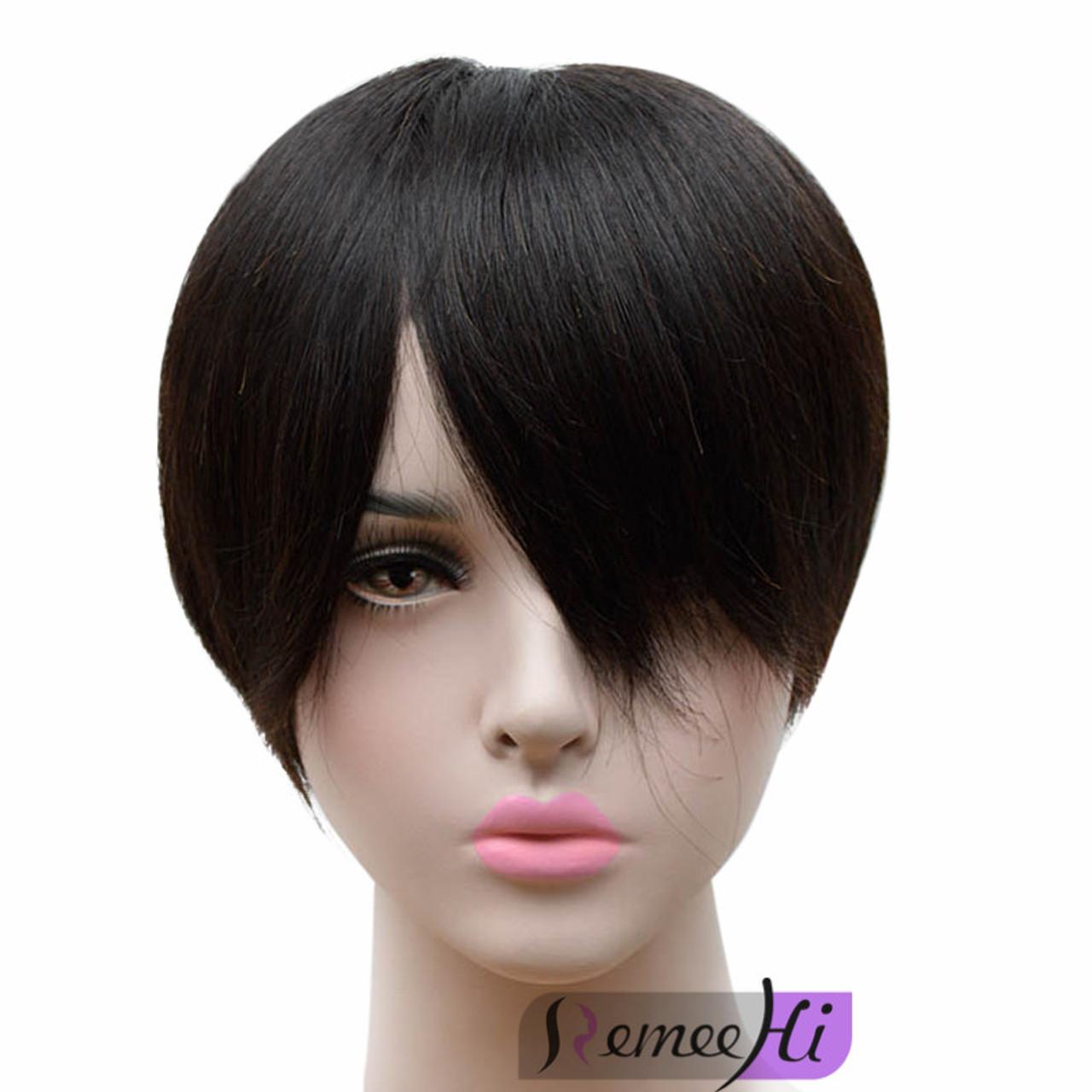 Remeehi short Top Hairpiece 100% Human Hair