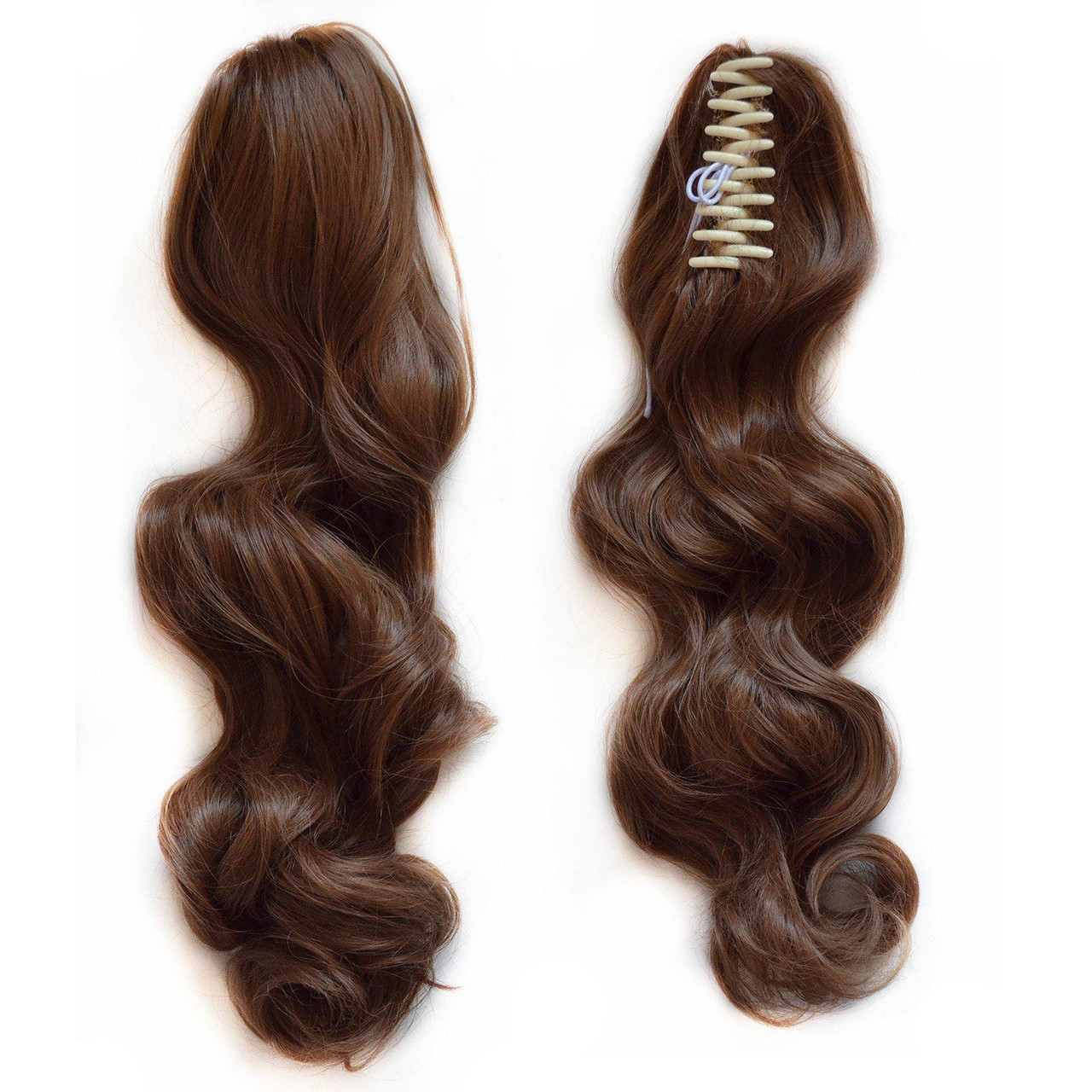 Sunny 18inch Remy Hair Extension Ponytail Brown Highlight Brazilian Human Clip In 100