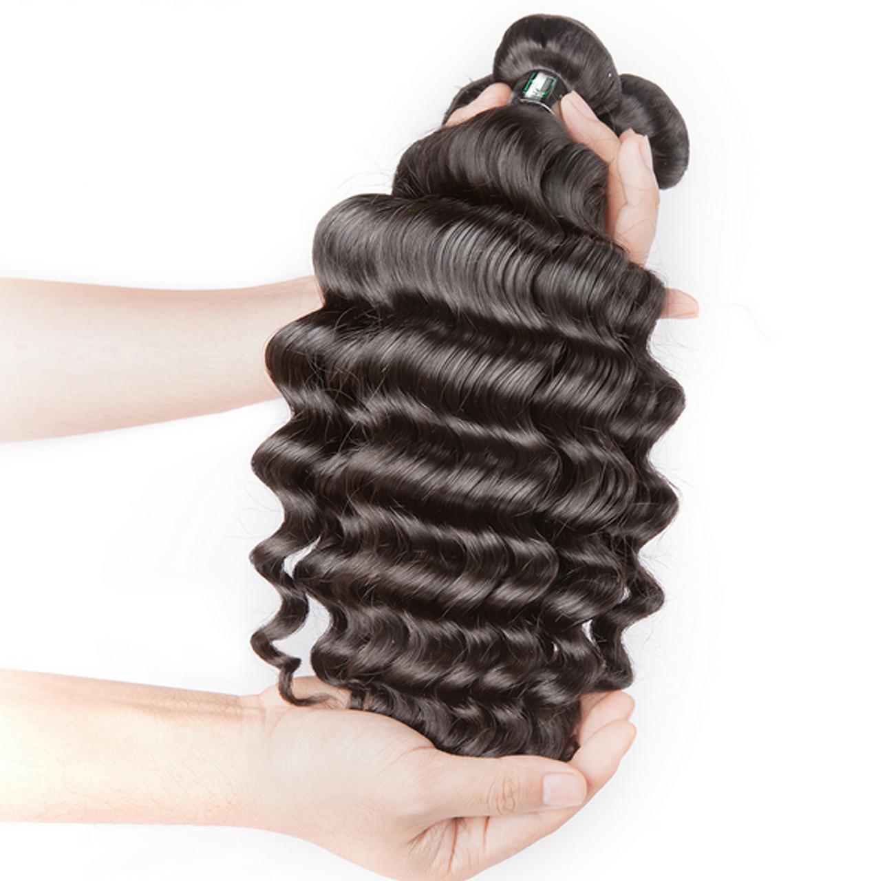 Peruvian Virgin Hair Deep Weave Curly Hair Bundles Human Hair Extensions Hair Weft 100g Bundle