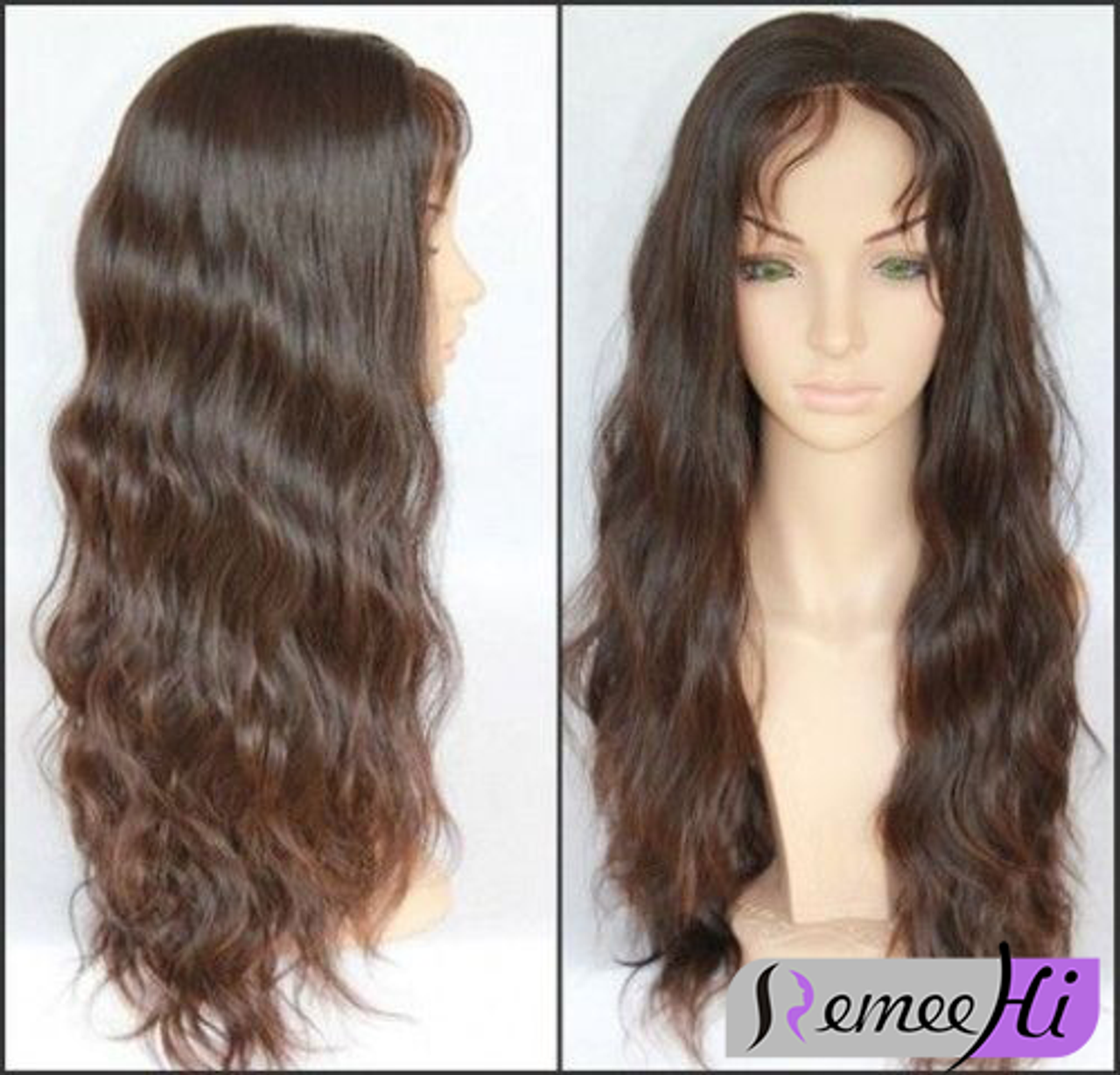 Remeehi long body wave Full Lace wigs 100