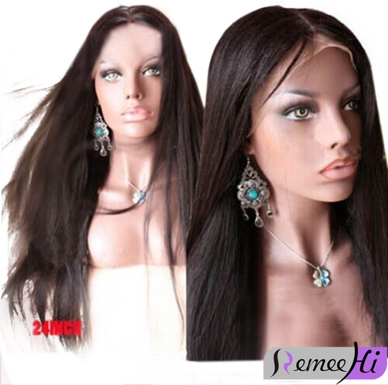 Remeehi Silky Straight Brizilian Remay Huamn Hair Full Lace Wig